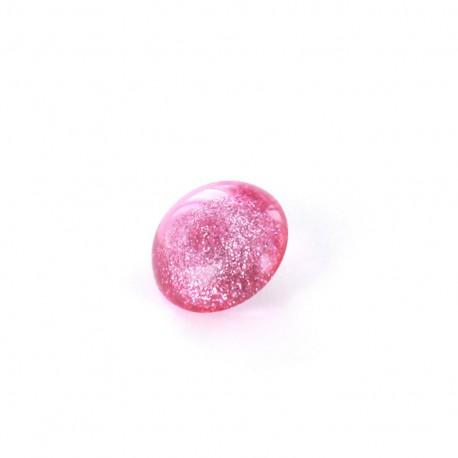 Polyester Button glitter - fuchsia
