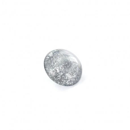 Polyester Button glitter - grey