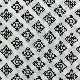 Tissu crêpe léger arabesque écru x 10cm