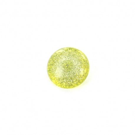 Bouton Polyester Glitter anis