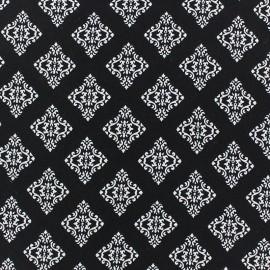 Tissu crêpe léger arabesque noir x 10cm