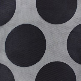Muslin viscose fabric Moon - navy blue x 50cm