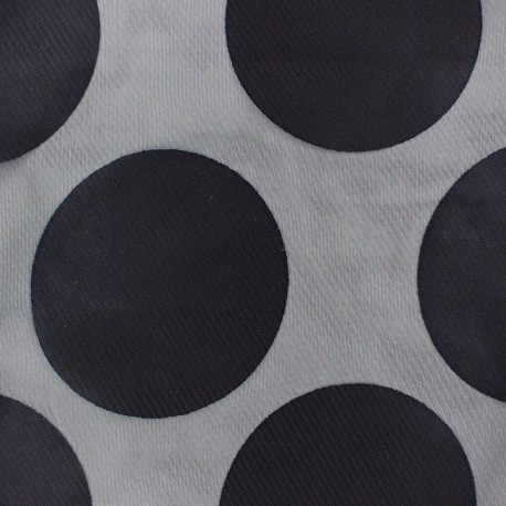 Muslin viscose fabric Moon - navy blue x 50cm
