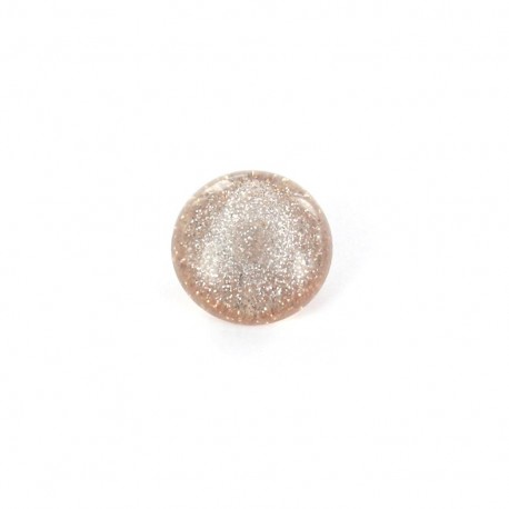 Bouton Polyester Glitter cuivre