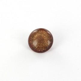 Bouton Polyester Glitter ambre