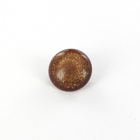 Polyester Button glitter - amber
