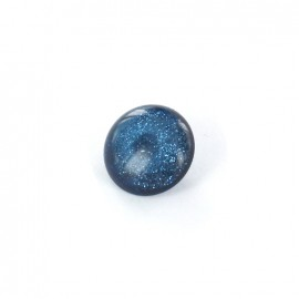 Polyester Button glitter - navy blue