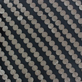 Muslin fabric faux-leather Pastille - grey x 50cm