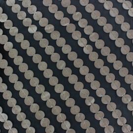 Tissu Mousseline Pastille simili gris x 50cm