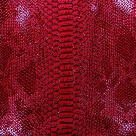 Simili cuir Comodo rouge x 10cm