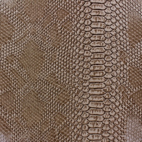 Faux soft leather Comodo - rattlesnake x 10cm