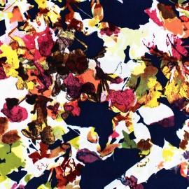 Tissu Microfibre Floral fond marine x 10cm