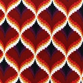 Serena Spandex Crepe Fabric - Dark Red  x 10cm