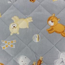 Tissu baby Noah gris x 10cm