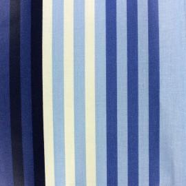 Tissu enduit coton Chilienne Bleu / Beige x 10cm