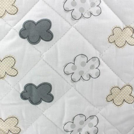 Tissu baby Nuages gris x 10cm