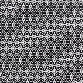 Tissu coton crétonne Saki Noir / Blanc x 10cm