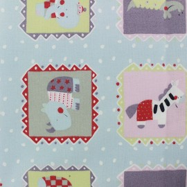 Cotton fabric Circus - blue x 10cm