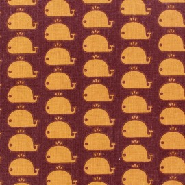 Tissu coton Moby Dick Orange x 10cm