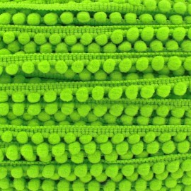 Mini pompon ball braid trimming - lime