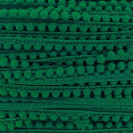 Galon mini pompon boule vert