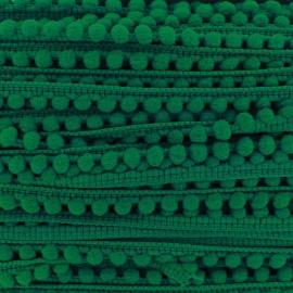Mini pompon ball braid trimming - green