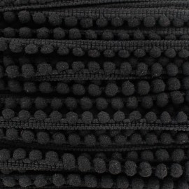 Braid mini pompon ball - black