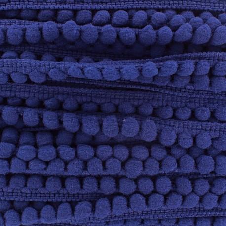 Mini pompon ball braid trimming x 1m - royal blue