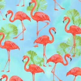 Fabric Flamingo Paradise Water x 60cm