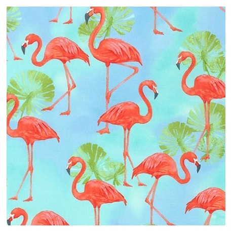Fabric Flamingo Paradise Sunshine x 60cm