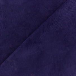 Elastane velvet fabric- blue-purple x10cm