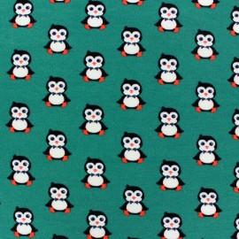 Fabric Jogging Pretty Penguins Grey x 10 cm