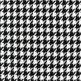 Tissu Lainage Houndstooth blanc x 10cm