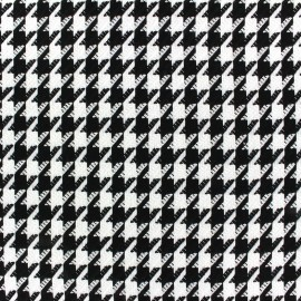Wool fabric houndstooth - white x 10cm