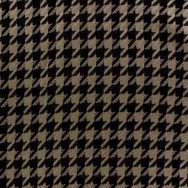 ♥ Coupon 35 cm X 145 cm ♥  Tissu Lainage Houndstooth taupe