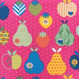 Jersey fabric Fruity - fuchsia x 10cm