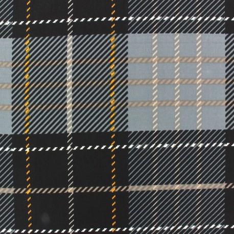 Muslin fabric Tartan - grey x 50cm