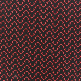 Tissu Mousseline Dab rouge x 50cm
