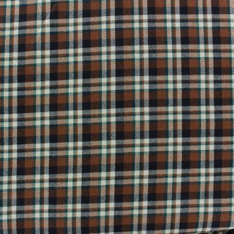 Tissu tartan écossais Roslin marron x10cm