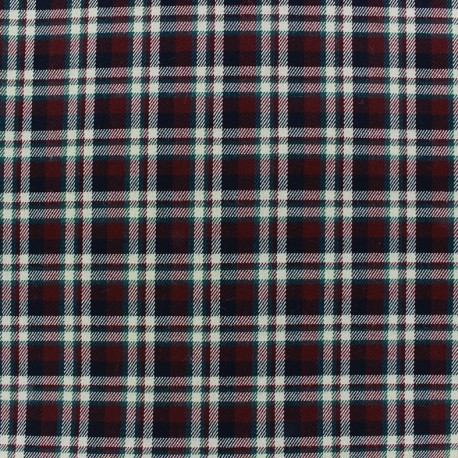 Scottish tartan fabric Roslin - carmine red x 10cm