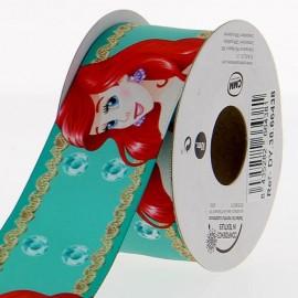 Ruban Oeko-tex  satin Disney Petite Sirène 38 mm