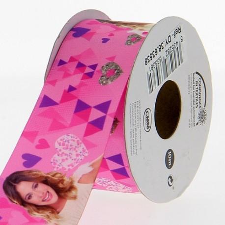 Satin ribbon Disney, Violetta 38 mm - pink