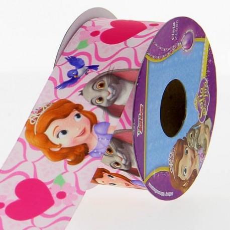 Ruban satin Disney Princesse Sofia 38 mm