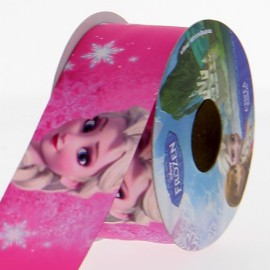 Ruban Oeko-tex  satin Disney Elsa 38 mm