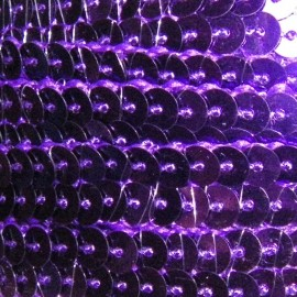 Sequins braid trimming 10 mm - purple