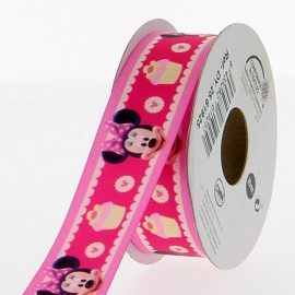 Ruban satin Disney Minnie 25 mm