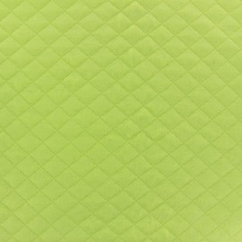 Quilted jersey fabric Diamonds - lime x 10cm