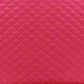 Quilted jersey fabric Diamonds - fuchsia x 10cm