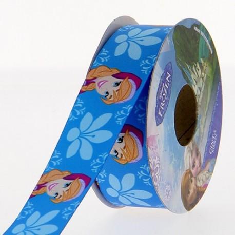 Satin ribbon Disney, Anna 25 mm - blue