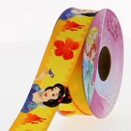 Ruban Oeko-tex  satin Disney Blanche Neige 25 mm